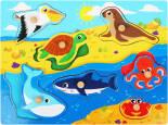 Развивающая игрушка Mapacha Вкладыши Животные океана