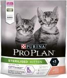 Сухой корм для стерилизованных котят Pro Plan Optistart Sterilised Kitten с лососем 400г