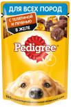 Корм для собак Pedigree с телятиной и печенью в желе 85г