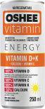 Напиток Oshee Energy Vitanim D + K со вкусом мяты лайма и лимона витаминизированный газированный 250мл