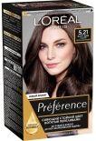 Краска для волос Loreal Paris recital Preference 5.21 Нотр-дам глубокий светло-каштановый