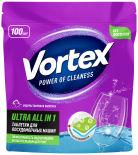 Таблетки для посудомоечных машин Vortex Ultra All in 1 Эко 100шт