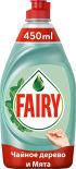 Средство для мытья посуды Fairy Нежные ручки Чайное дерево и мята 450мл