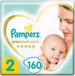 Подгузники Pampers Premium Care 4-8кг Размер 2 160шт