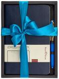 Подарочный набор BrunoVisconti Megapolis Flex Темно-синий Ежедневник + ручка