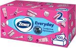 Салфетки бумажные Zewa Everyday косметические 2 слоя 100шт