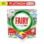 Капсулы для посудомоечных машин Fairy Platinum Plus All in One Лимон 50шт