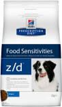 Сухой корм для собак Hills Prescription Diet z/d при пищевой аллергии 3кг