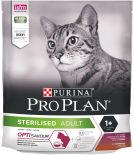Сухой корм для стерилизованных кошек Pro Plan Optisavour Sterilised с уткой и печенью 400г