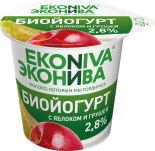 Биойогурт ЭкоНива с яблоком и грушей 2.8% 125г