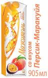 Напиток молочно-соковый Мажитэль Персик-маракуйя 950г