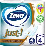 Туалетная бумага Zewa Just.1 4 рулона 4 слоя