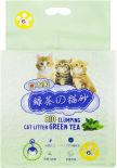 Наполнитель для туалета Hakase Arekkusu Зеленый чай комкующийся 6л
