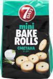 Сухарики 7 Days Bake Rolls mini Сметана и лук 80г
