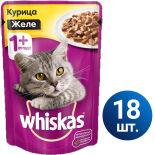 Влажный корм для кошек Whiskas Желе с курицей 18шт*85г
