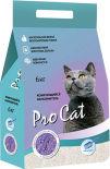 Наполнитель для кошачьего туалета Pro Cat Lavanda комкующийся из экстра белой глины 6кг