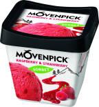 Мороженое Movenpick Raspberry & Strawberry 2% 500мл
