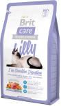 Сухой корм для кошек Brit care с чувствительным желудком с ягненком и лососем 2кг