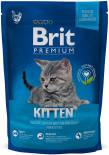 Сухой корм для котят Brit Premium Cat Kitten Курица в соусе из лосося 800г