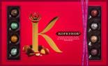 Набор конфет Коркунов Ассорти из темного и молочного шоколада 256г