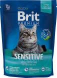 Сухой корм для кошек Brit Premium Ягненок для кошек с чувствительным пищеварением 300г