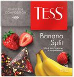 Чай черный Tess Banana Split с ароматом клубники и банана 20 пак