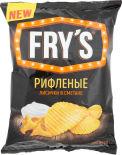 Чипсы Frys Рифленые Лисички в сметане 130г
