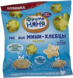 Мини-хлебцы ФрутоНяня Рисовые с яблоком и пребиотиком 30г