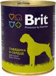 Корм для собак Brit Говядина и сердце 850г