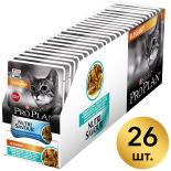 Влажный корм для кошек Pro Plan Nutri Savour Elegant для здоровья кожи и шерсти кусочки в соусе с треской 85г