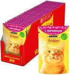Корм для кошек Friskies с печенью в подливе 85г