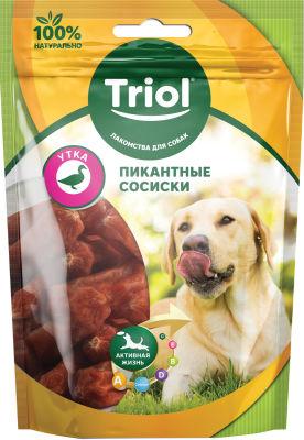 Лакомство для собак Triol Пикантные сосиски из Утки 70г