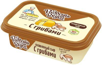 Сыр плавленый Радость вкуса с грибами 50% 180г