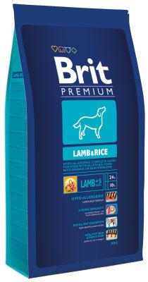 Сухой корм для собак Brit Premium Lamb&Rice с ягненком и рисом 8кг