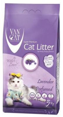 Наполнитель для кошачьего туалета Van Cat Lavender с ароматом лаванды 5кг