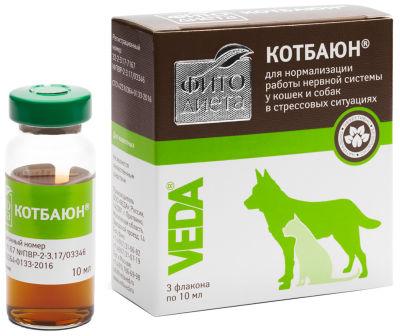 Капли для животных КотБаюн Фитодиета 10мл*3шт