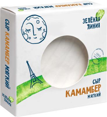Сыр Маркет Зеленая линия Камамбер с белой плесенью 50% 150г
