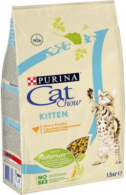 Сухой корм для котят Cat Chow Adult с домашней птицей 1.5кг