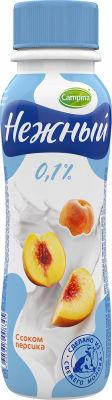 Питьевой йогурт Нежный с соком персика 0,1% 285г