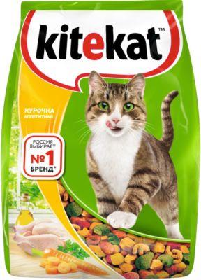 Сухой корм для кошек Kitekat Курочка Аппетитная 350г