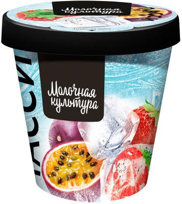 Йогурт Молочная Культура Ласси с клубникой бананом и маракуйей 5-5.9% 265г