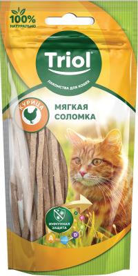 Лакомство для кошек Triol Мягкая соломка из курицы 40г