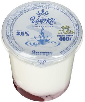 Йогурт ЦарКа Брусника 3.5% 400г