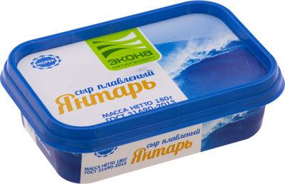 Сыр плавленый Экона Янтарь 50% 180г