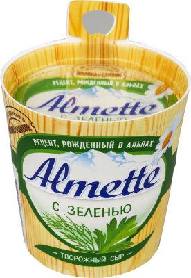 Сыр творожный Almette с зеленью 60% 150г