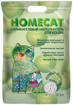 Наполнитель для кошачьего туалета Homecat Яблоко 12.5л