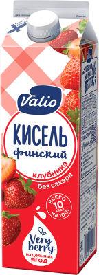 Кисель Valio Клубника без сахара 950г