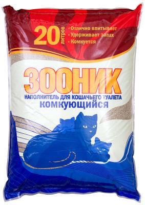 Наполнитель для кошачьего туалета Зооник комкующийся 20л