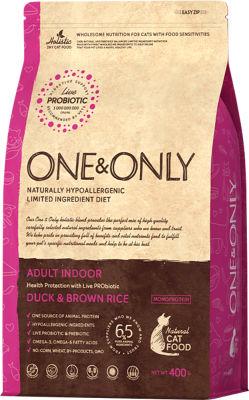 Сухой корм для кошек One&Only Adult утка с рисом 400г