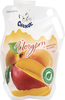 Йогурт питьевой Снежок Абрикос и манго 1.5% 900г